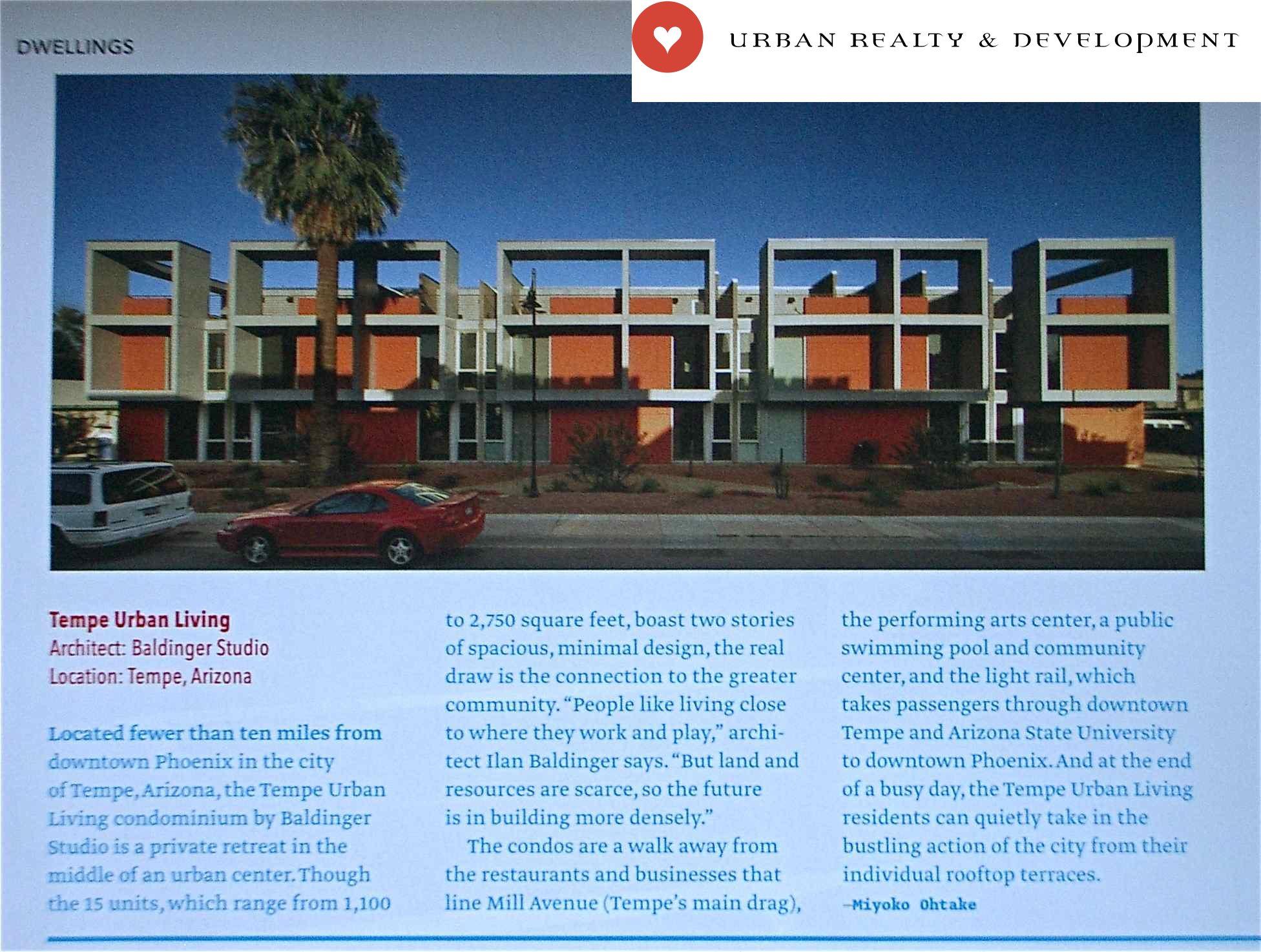 Tempe Urban Living In Dwell Magazine